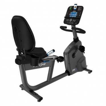 Life Fitness RS3 recumbent LifeCycle Track+ console
