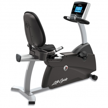 Life Fitness recumbent  Ergometer Cycle R3 Go console display