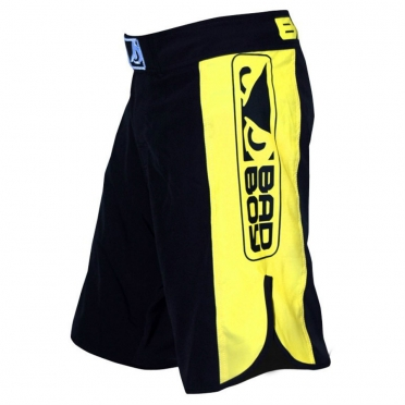 Bad Boy Strike MMA shorts black/yellow