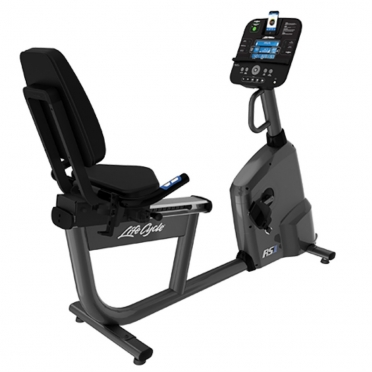 Life Fitness RS1 recumbent LifeCycle Track+ console