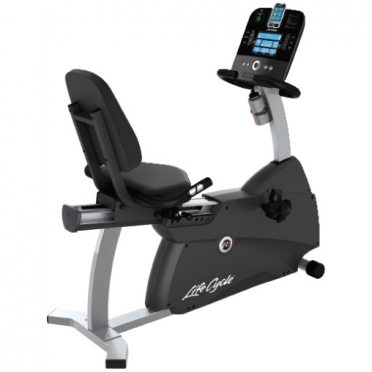 Life Fitness recumbent Ergometer Cycle R1 Track console display