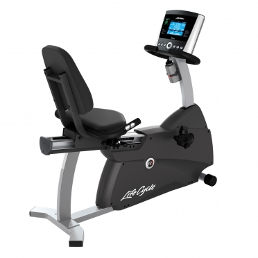 Life Fitness recumbent ergometer Cycle R1 Go console display