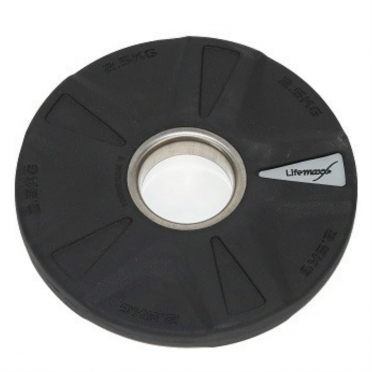 Lifemaxx Olympic Discs Rubber coated 5 grip 2,5 kg LMX 92