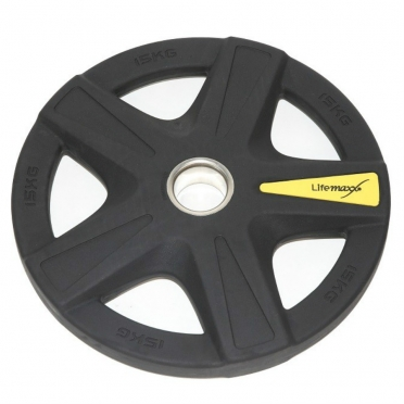 Lifemaxx Olympic Discs Rubber coated 5 grip 15 kg LMX 92
