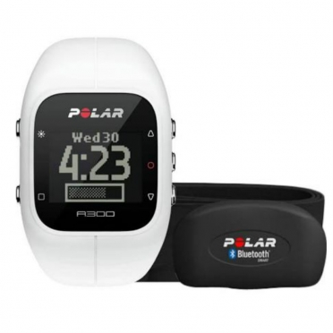 Polar A300 sports watch white with heart rate