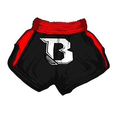 Booster TBS Air thai shorts black red