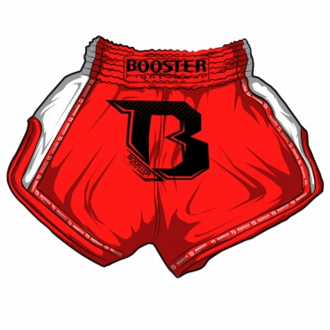 Booster TBT Pro thai shorts red