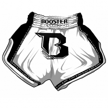 Booster TBT Pro thai shorts white