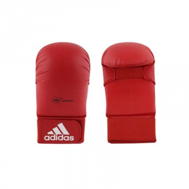 Adidas karate gloves WKF red without thumbs
