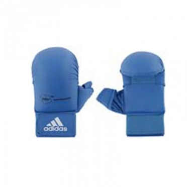 Adidas karate gloves WKF blue with thumbs