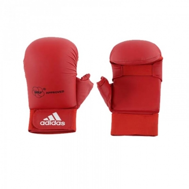 Adidas karate gloves WKF red with thumbs