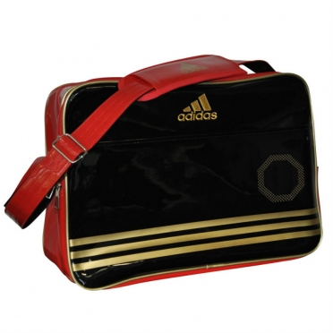 Adidas Sport Bag Shiny Black/Red/Gold