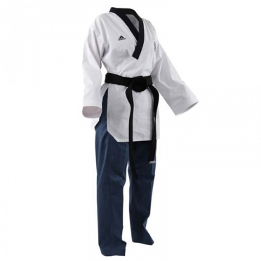 Adidas Poomsae taekwondo suit women white/light blue