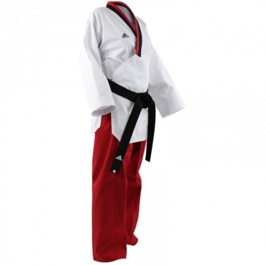 Adidas Poomsae taekwondo suit girls white/red