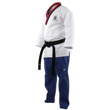 Adidas Poomsae taekwondo suit boys white/light blue