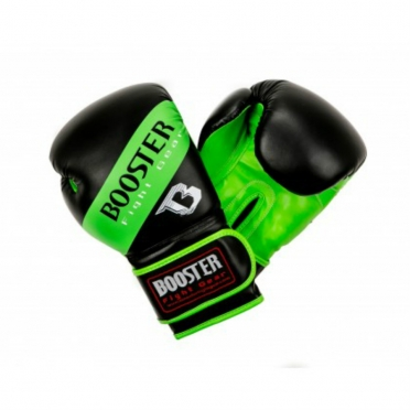 Booster BT Sparring boxing gloves neon green striped