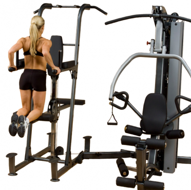 Body-Solid Fusion 600 personal trainer with Weight assisted dip and pull up station