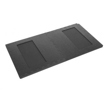 Finnlo 2 piece puzzle mat with cutout