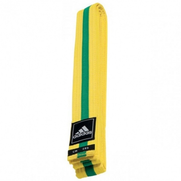 Adidas taekwondo Poomsae belt yellow/green