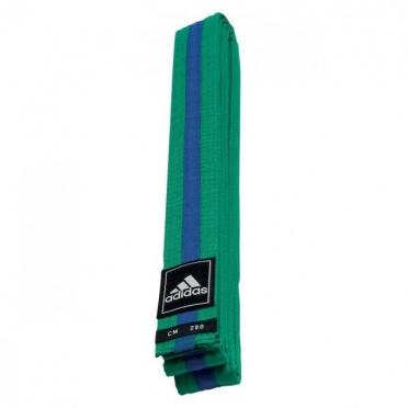 Adidas taekwondo Poomsae belt green/blue