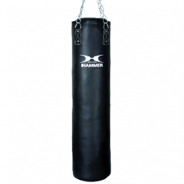 Hammer boxing bag synthetic leather black 100 - 180 cm