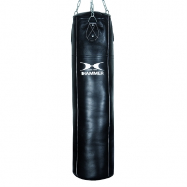 Hammer boxing bag cowhide leather black 100 - 120 cm