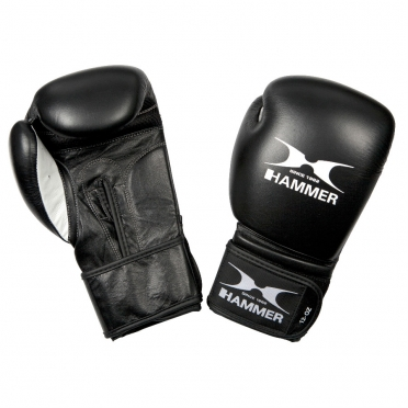 Hammer boxing gloves leather premium fitness