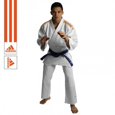 Adidas judo uniform J350 white/orange