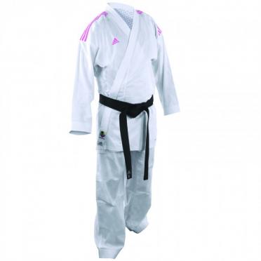 Adidas Karate suit K220KF kumite fighter white/pink