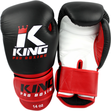 King KPB-1 boxing gloves Pro Boxing black/red