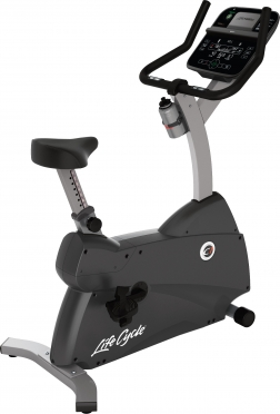 Life Fitness Exercise Bike LifeCycle C1 Track Connect Console demo