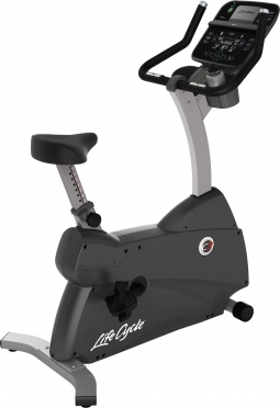 Life Fitness Exercise Bike LifeCycle C3 Track Connect Console demo
