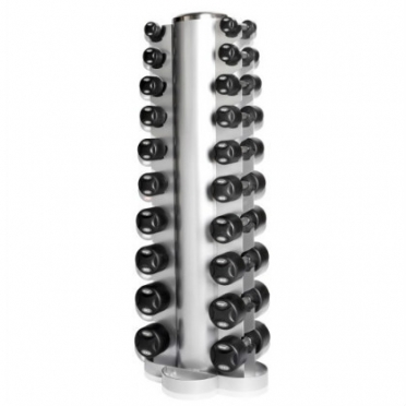 LifeMaxx Dumbbell Tower with Dumbbellset 2 x 1-10 kg (10 pair) (LMX 79.SD)