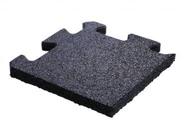 Lifemaxx Puzzle floor 20mm Crossmaxx jigsaw rubber corner (25 x 25 cm)