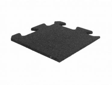 Lifemaxx Puzzle floor 10mm ECO rubber corner (25 x 25 cm)