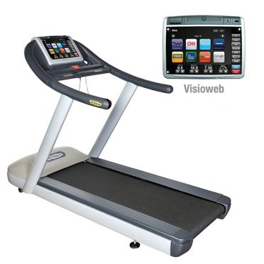 TechnoGym treadmill Jog Now Excite+ 700 Visioweb silver used