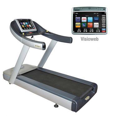 TechnoGym treadmill Run Now Excite+ 700 Visioweb silver used
