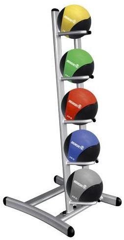 Tunturi Medicine ball rack complete with 5 medicine balls
