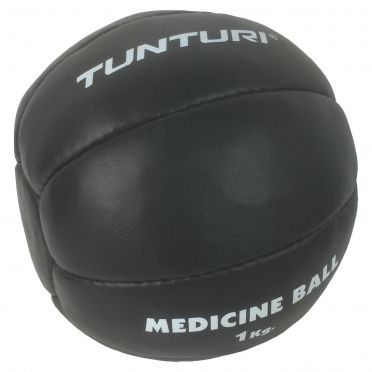 Tunturi Medicine ball synthetic leather 1 kg black