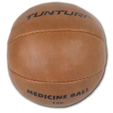 Tunturi Medicine ball synthetic leather 1 kg brown