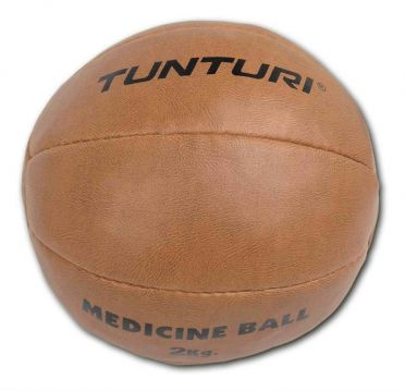Tunturi Medicine ball synthetic leather 2 kg brown