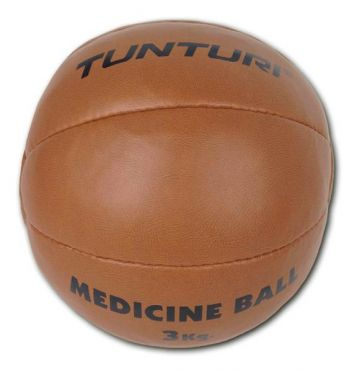 Tunturi Medicine ball synthetic leather 3 kg brown