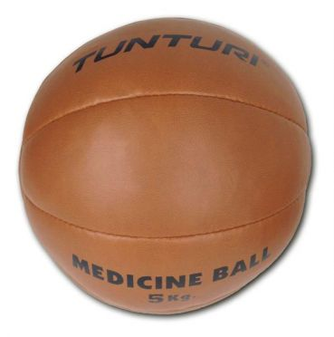 Tunturi Medicine ball synthetic leather 5 kg brown