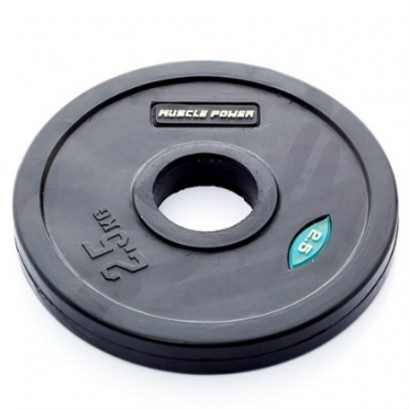 Muscle Power Olympic disc 2,5 kg rubber covered Ø 50 mm black