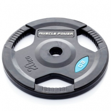 Muscle Power Olympic disc 20 kg rubber covered Ø 50 mm black