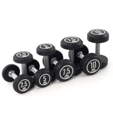 Muscle Power dumbbell set round rubber 2,5 - 10 kg