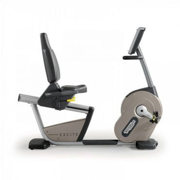TechnoGym recumbent bike Recline Excite+ 500i silver used