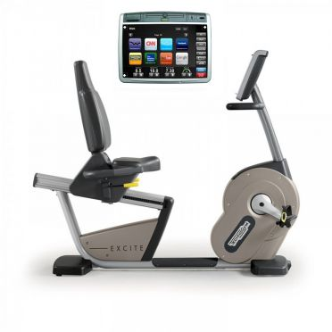 TechnoGym recumbent bike Recline Excite+ 700 Visioweb silver used