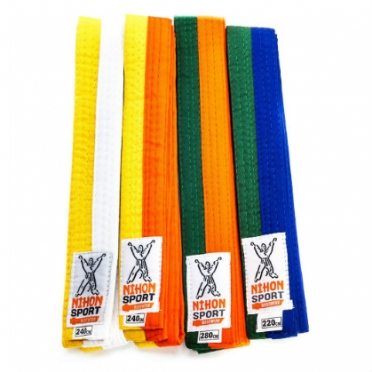 Nihon judo belt 2 colors