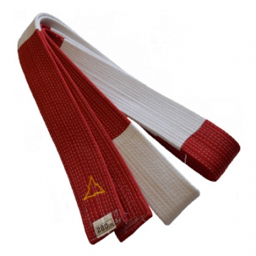 Nihon judo belt red/white